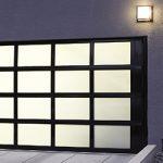 Aluminum Garage Door 521 black frame