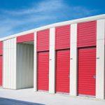 rolling sheet doors on storage building